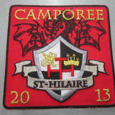 Broderie des Patriotes - Broderie - Étiquette - Camporee 2013