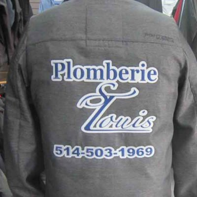 Broderie des Patriotes - Broderie - Manteau - Plomberie St-Louis