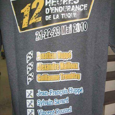 Broderie des Patriotes - Imprimés - 12h Endurance La Tuque