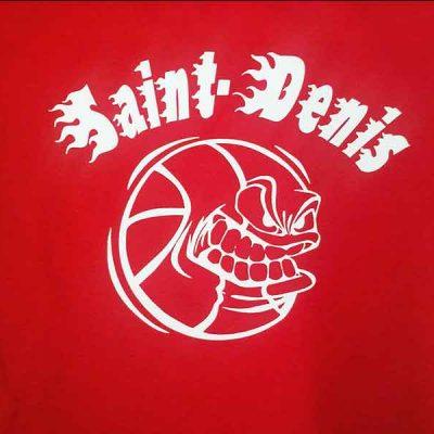 Broderie des Patriotes - Sérigraphie - T-shirt - Basket St-Denis