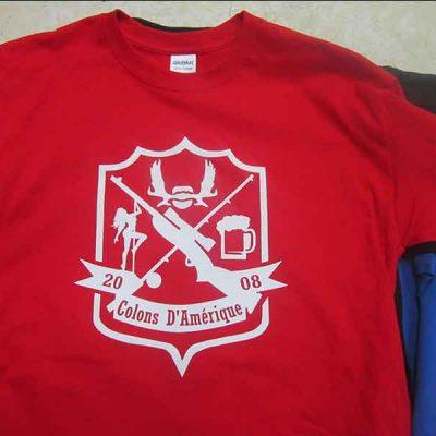 Broderie des Patriotes - Sérigraphie - T-shirt - Colons d'Amerique