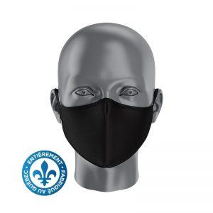 Masque sans imprimé - Noir